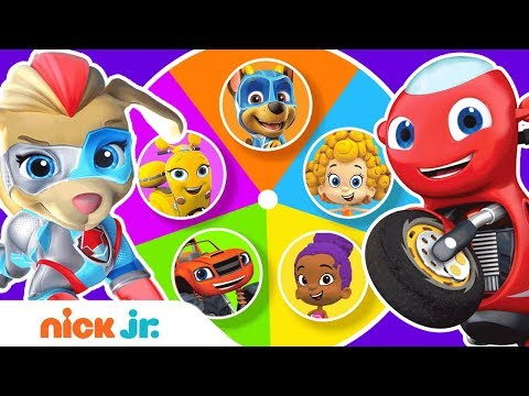 Guess The Missing Colors W/ PAW Patrol Mighty Pups & Bubble Guppies 🌈 Color Game Ep. 5   Nick Jr.