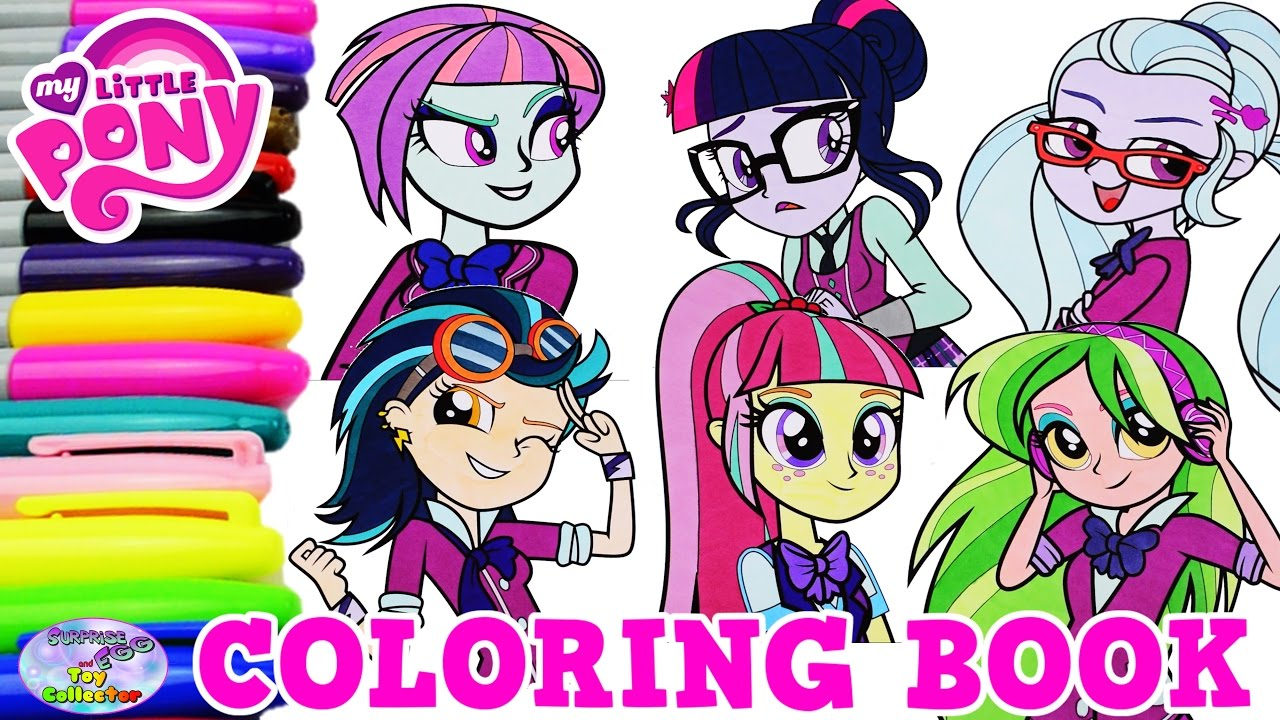 My Little Pony Coloring Book Equestria Girls Shadowbolts
