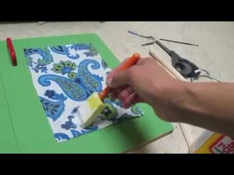 Glue Fabric To Wood Using Mod Podge Youtube
