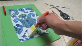 Glue Fabric To Wood Using Mod Podge