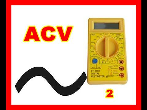 Curso de electrónica uso multimetro corriente alterna acv 3