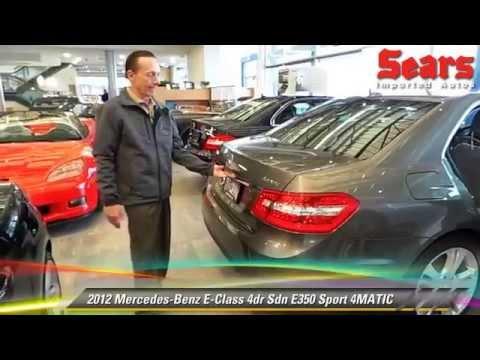 Used 2012 Mercedes-Benz E-Class E350 Sport 4MATIC ...