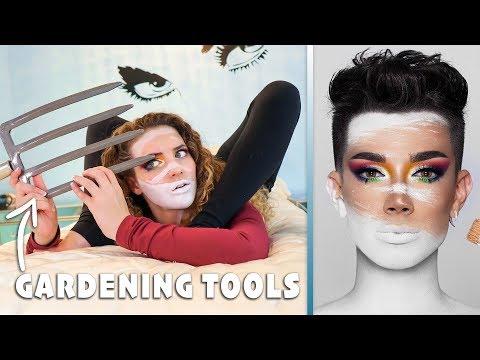 James Charles Makeup Tutorial w/ GARDENING TOOLS להורדה