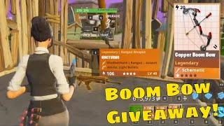 Fortnite STW PVE Save The World Boom Bow Live Nocturno Gravedigger Giveaway Gameplay