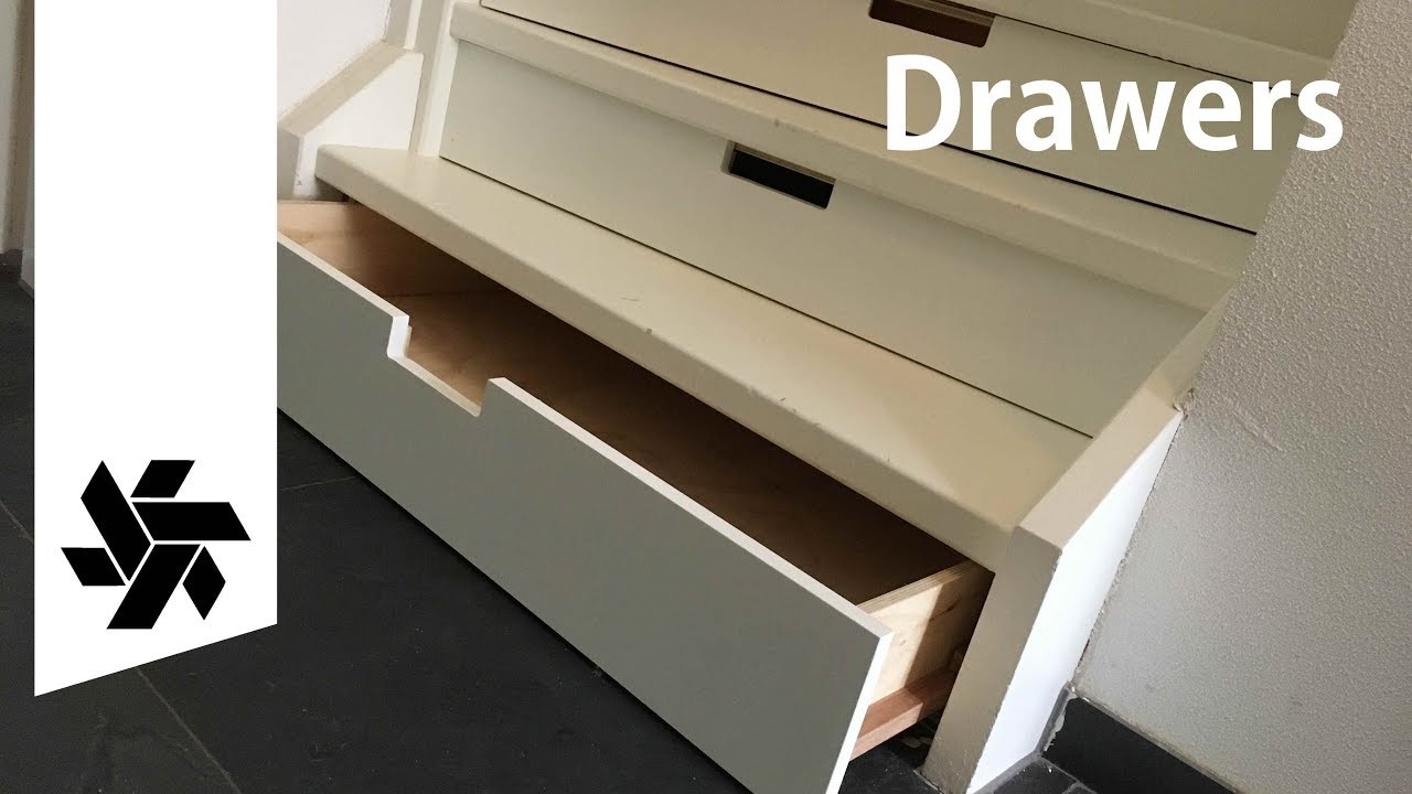 Make Drawers Under A Staircase How To Woodworking Project