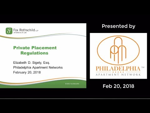 Private Placement Regulations