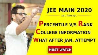JEE Main 2020 (Jan Attempt) Percentile vs Rank, College Options | Counselling Session | ALLEN Kota