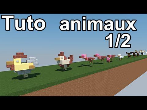 Minecraft tutoriel animaux 1 2 coq poule dauphin - Poule minecraft ...
