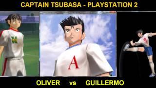 captain tsubasa playstation 2 - oliver vs guiellermo tiro nabaja