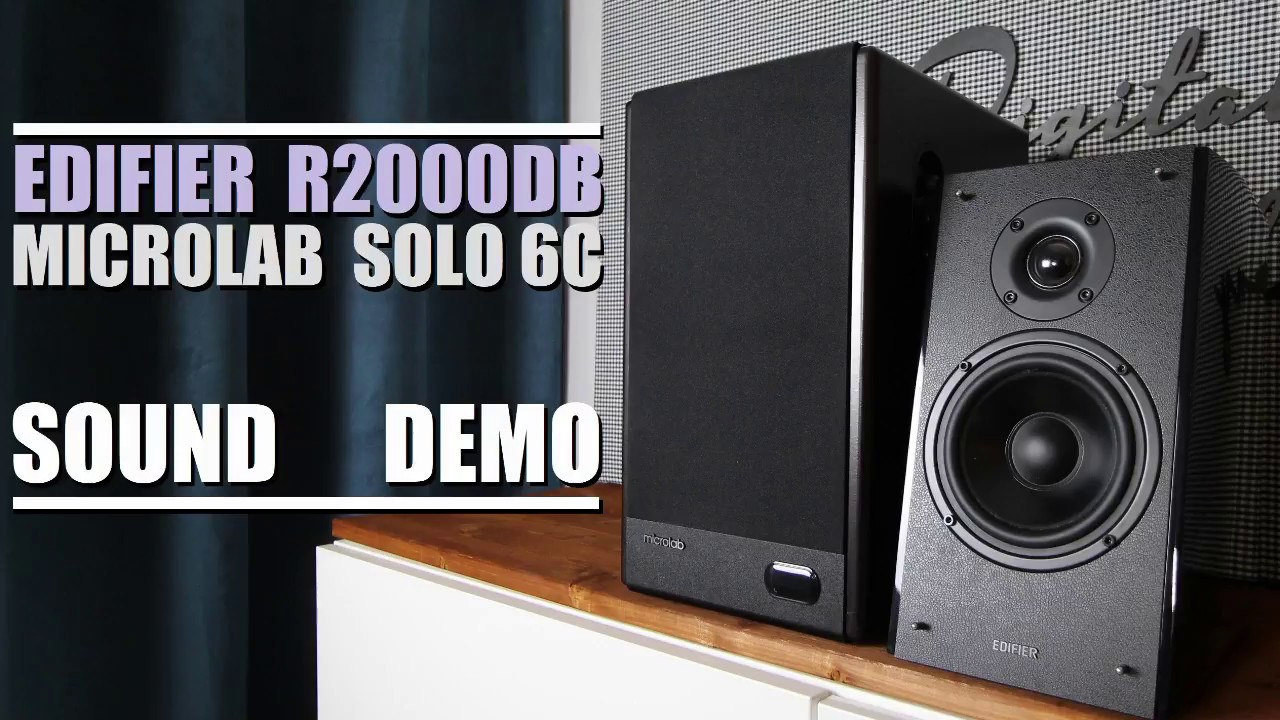 Microlab Solo 6C vs Edifier R2000DB  ||  Sound Demo w/ Bass Test
