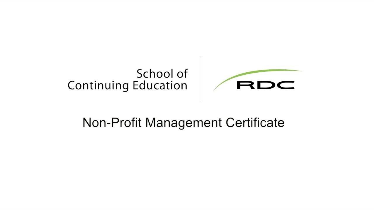 Non Profit Management Certificate Youtube