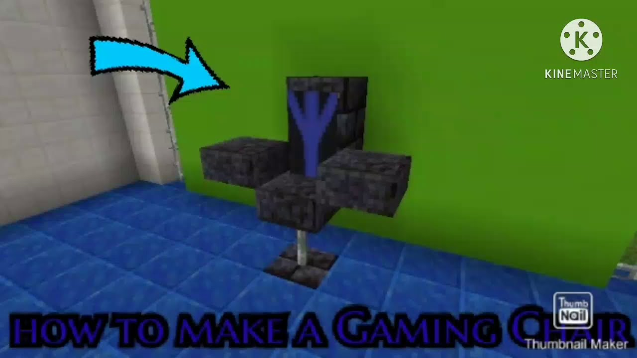how to make a Gaming Chair in Minecraft - YouTube
