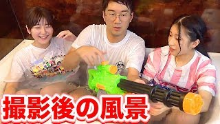 YouTube動画:【裏側】お風呂スライムの撮影後はこんな感じだった!!!