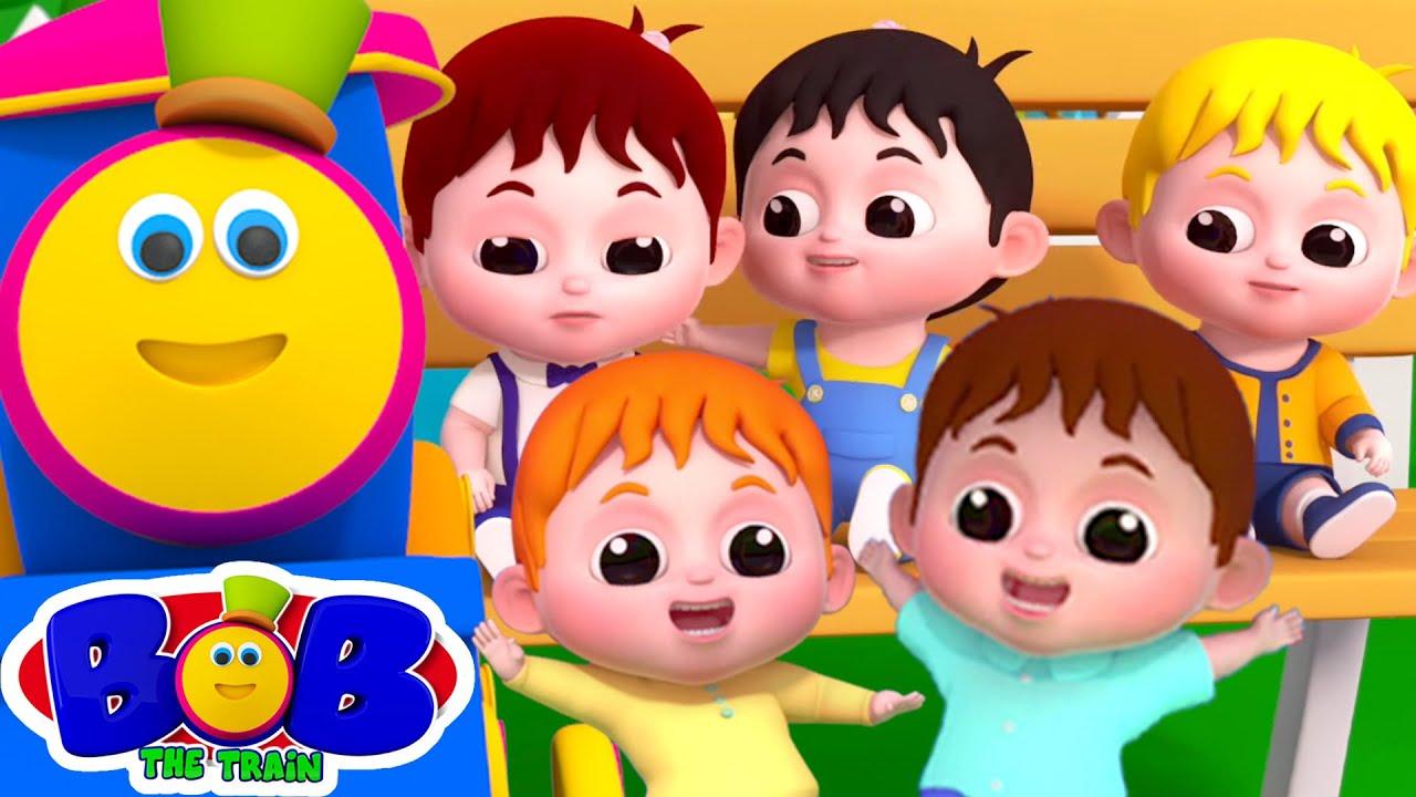 ทารกน้อยห้าคน | เพลงเด็กอนุบาล | อนุบาล | Bob The Train Thailand | การ์ตูนสนุก