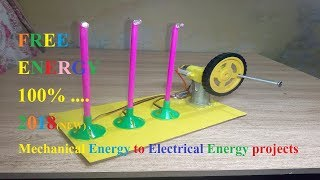 [FREE ENERGY MODEL ] How To Convert Mechanical Energy Into  Electrical  Energy || new 2018 ||