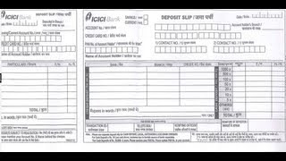 ICICI-How to fill ICICI Bank Deposit Slip