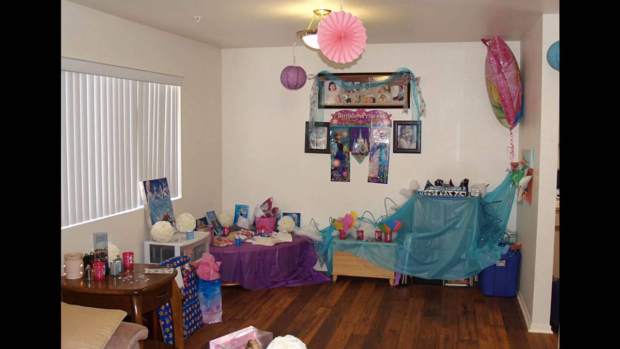 Frozen Birthday Party Themed Decorating Ideas