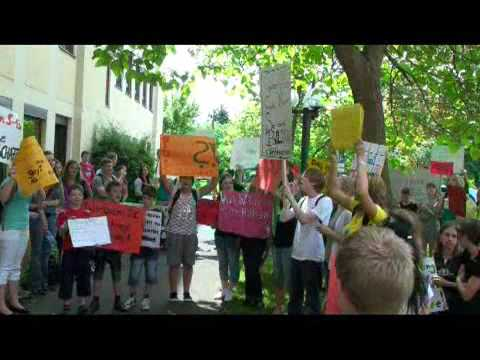 Schüler demonstrieren in