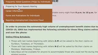 Weeks later, many residents report problems filing for unemployment