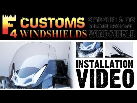 F4 Spyder RT/RTS Windshield Installation | Can-Am Spyder Parts & Accessories | CycleGiant.com