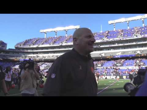 Mike Pettine Enjoys Win On The Field Postgame