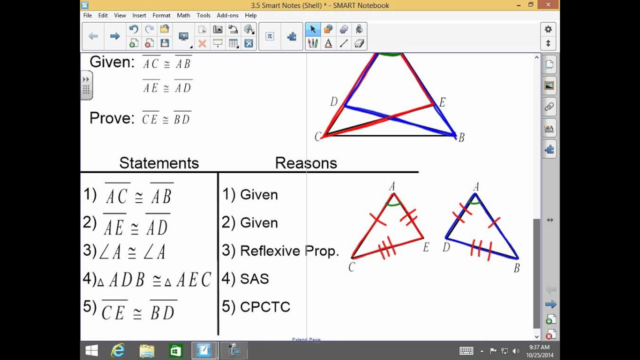 Honors Geometry 3 5 Overlapping Triangles