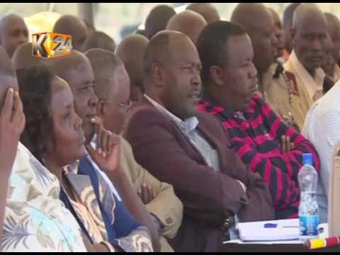 Family, relatives and leaders pay homage to late Nkaissery at his Il Bisil home, Kajiado