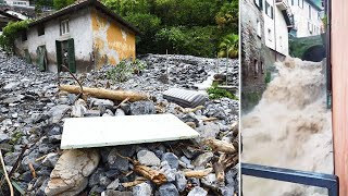 video: More than 60 people rescued after Italy's Lake Como hit by mudslides and floods