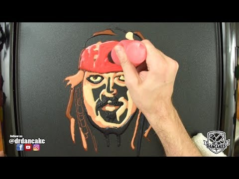 Jack Sparrow (Johnny Depp) Pancake Art