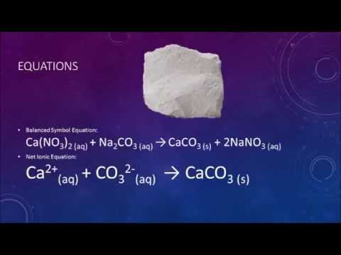 Precipitation Reaction Calcium Nitrate And Sodium Carbonate Youtube