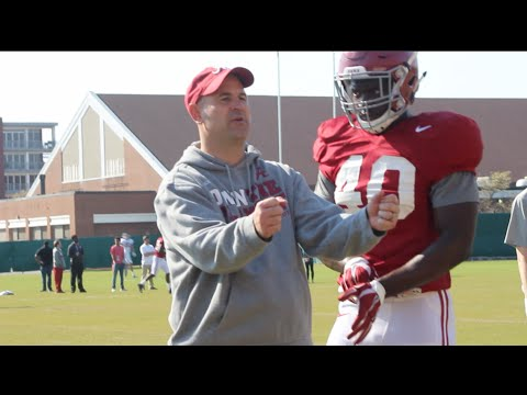 Watch Jeremy Pruitt coach Alabama ILBs