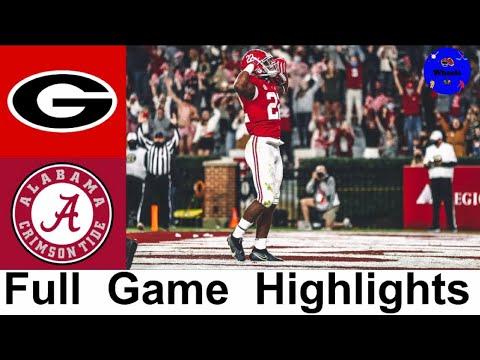 #3 Georgia vs #2 Alabama Highlights | College Football Week 7 | 2020 College Football Highlights