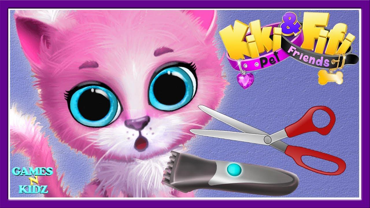 Fun Animal Care Cute Kitten Learn Hair Makeover Cat Hair Salon