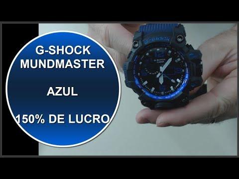 e7918dc53e3 G-SHOCK MUDMASTER AZUL E PRETO