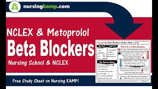 NCLEX and Beta Blockers What are Cardiac Medications KAMP 1 2  Metoprolol NCLEX Meds 2019