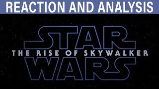 EPISODE IX TRAILER REACTION - SHEEV AND IMPERIAL STAR DESTROYERS