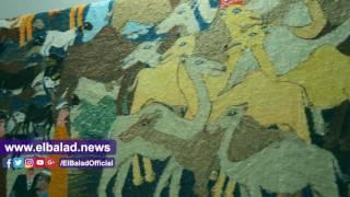 «الحرانية» معقل الفن والإبداع فى صناعة السجاد اليدوي.. فيديو وصور