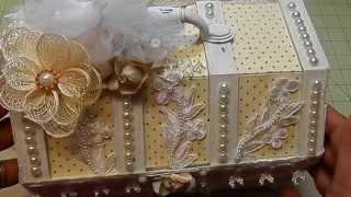 Sweet/elegant Altered Wooden Chest