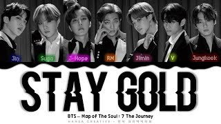 Download lagu BTS - 'STAY GOLD' Lyrics Color Coded (Kan/Rom/Eng)