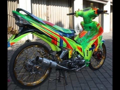 Motor Trend Modifikasi | Video Modifikasi Motor Yamaha Jupiter MX Airbrush Terbaru