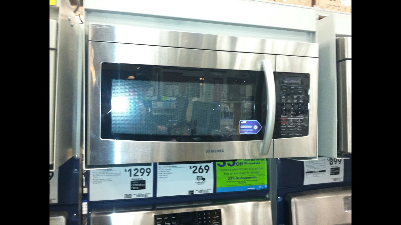 Samsung Smh1713s Stainless Steel Over The Range Microwave Review You