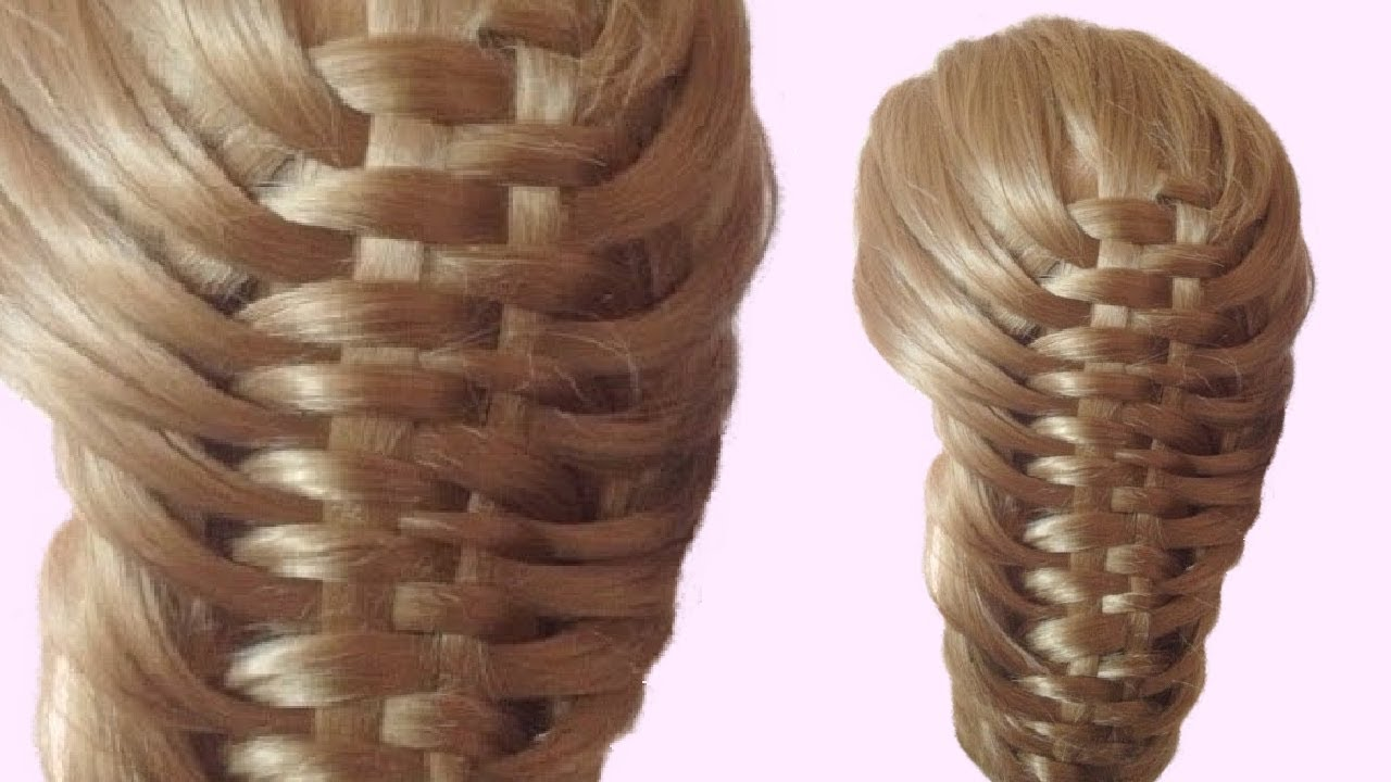 Weaving Hair Basket Hairstyle For Long Hair Tutorial Youtube