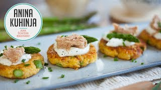 Youtube video Proseni polpeti s šparglji, jogurtom in tunino