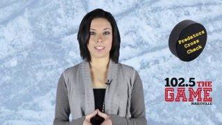 Jaclyn Torrento- Predators Cross Check for 102.5 The Game Nashville