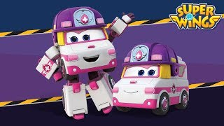 White Ambulance | Superwings M/V | English Song | Car Song