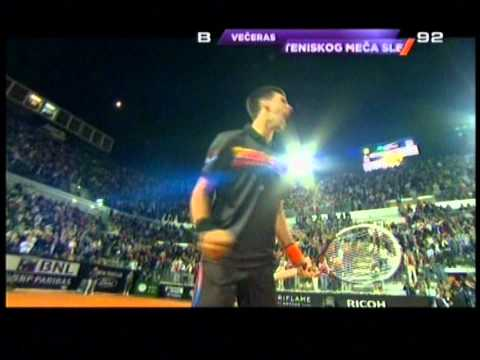 ATP Rome Masters 2011 Semifinals: Novak Djokovic vs Andy Murray 60% of LAST POINT and CELEBRATION