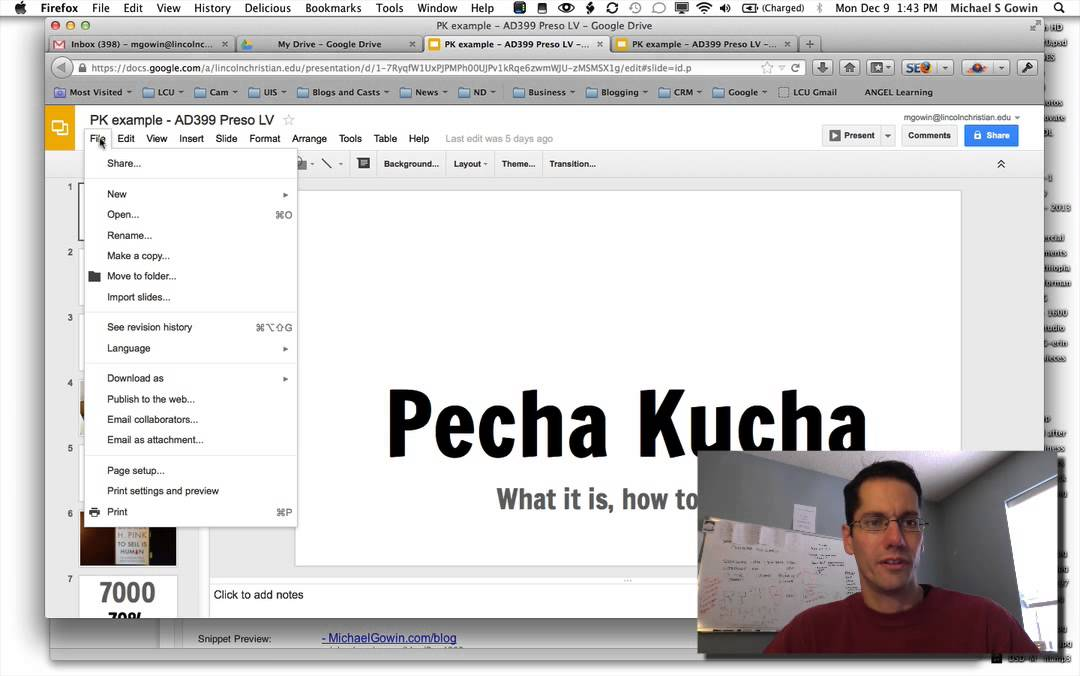 How to create a pecha kucha presentation with google drive for Pecha kucha powerpoint template
