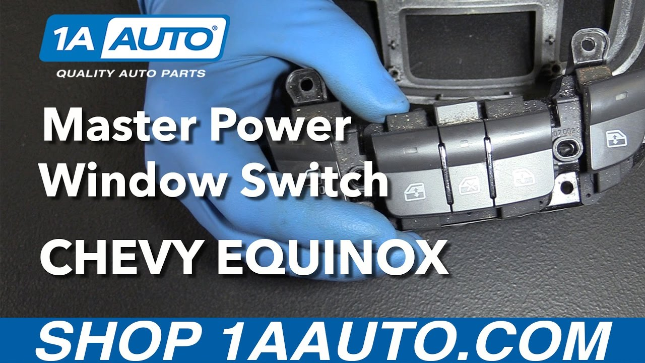 how to replace master power window switch 05 09 chevy equinox [ 1280 x 720 Pixel ]