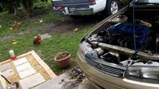 mazda 626 - fuel pump inspection test  youtube