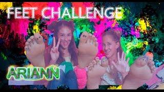 FEET CHALLENGE con mi amiga Andrea- ARIANN Y ANDREA - Best Friends | Ariann Music